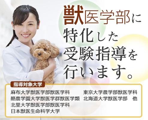獣医学部に特化した受験指導をいたします。